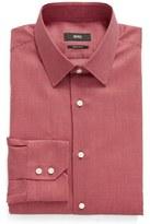BOSS Men's Enzo Regular Fit Geometric Dress Shirt