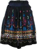 Sacai tribal lace wrap front shorts - women - Polyester/Cupro - 3