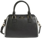Kate Spade 'Prospect Place - Small Pippa' Leather Crossbody Satchel - Black