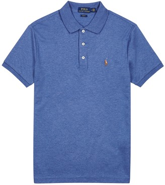 Polo Ralph Lauren Blue slim cotton-jersey polo shirt