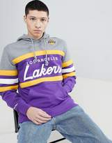 Mitchell & Ness NBA Lakers Panel Hoodie In Purple