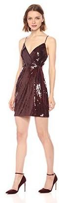 BCBGMAXAZRIA Azria Women's Sequin Knit Evening Dress