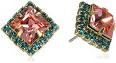 "Sorrelli Caribbean Coral"" Perfectly Pointed Post Earrings"