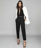 Reiss Rosalba - Long Sleeved Plunge Bodysuit in Black