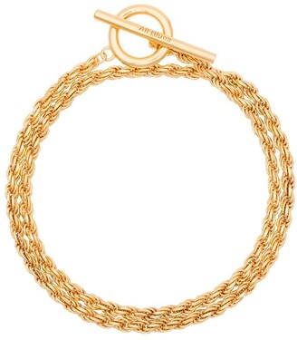 All Blues Rope polished gold vermeil bracelet