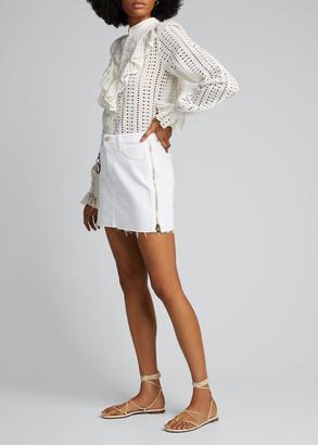 L'Agence Allegra Side-Zip Mini Skirt
