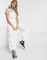 Levi's baggy dugarees clean sweep in white