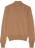 The Row Teresa Merino Wool And Cashmere-blend Turtleneck Sweater - Camel