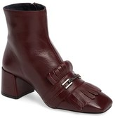 Topshop Women's 'Maximum Fringe' Loafer Boot