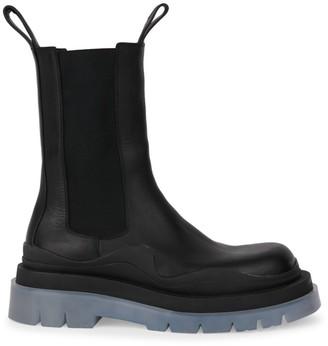 Bottega Veneta Contrast-Sole Leather Tire Boots