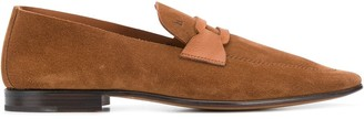 Moreschi suede flat-front loafers