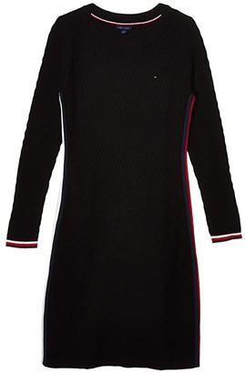 Tommy Hilfiger Adaptive Ellen Tipped Dress (Black) Women's Clothing