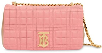 Burberry small quilted two-tone lambskin Lola bag