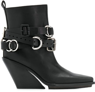 Ann Demeulemeester buckled ankle boots