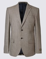 Marks and Spencer Pure Wool Checked Jacket
