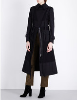 Alexander McQueen Strap-detail wool and cotton-twill trench coat