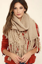 LuLu*s Destination Toasty Wine Red Knit Scarf