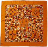 Louis Vuitton Orange Silk Scarf
