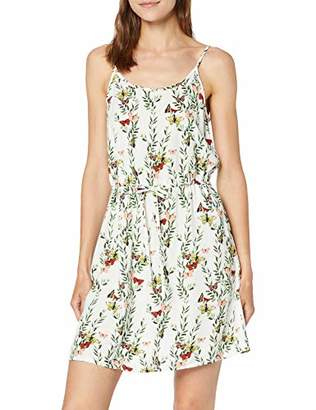 Vero Moda Women's Vmsimply Easy Singlet Short Dress, Multicolour AOP:Betty-Snow White, (Size of : M)