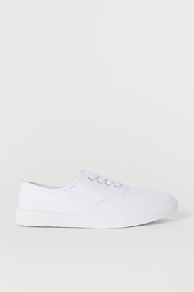 H&M Canvas Sneakers - White