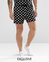 Reclaimed Vintage Shorts In Polka Dot Print