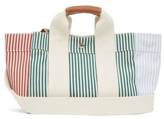 Rue De Verneuil - Lady Parcours S3 Striped Canvas Tote Bag - Green Multi