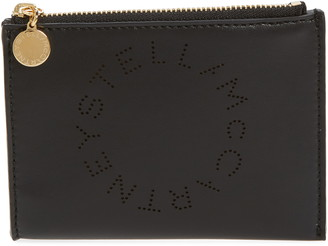 Stella McCartney Small Perforated Logo Faux Leather Pouch