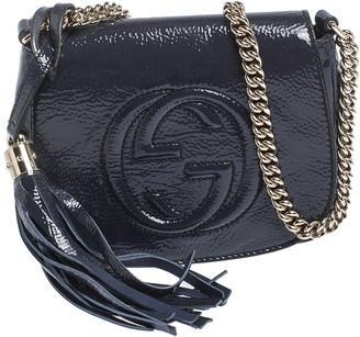Gucci Midnight Blue Patent Leather Soho Flap Chain Crossbody Bag