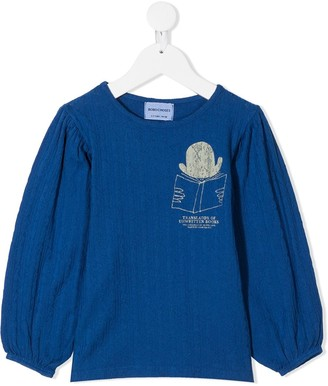 Bobo Choses Unwritten books-print blouse