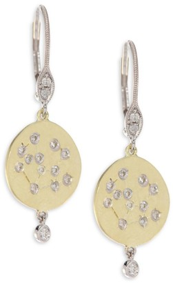 Meira T 18K Yellow Gold & Diamond Disc Earrings