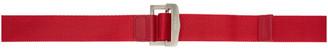 Ambush Red Buckle Belt