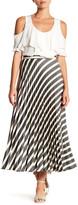 Nicole Miller Demi Pleated Striped Skirt
