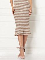 New York & Co. Eva Mendes Collection - Luana Stripe Sweater Trumpet Skirt