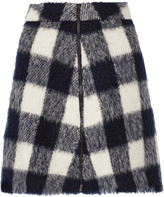 Sea Gingham knitted mini skirt