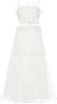 Rodarte Floral Tulle Bustier And Floral Tulle Skirt Set