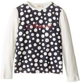 Armani Junior Polka Dot Logo Tee Girl's T Shirt
