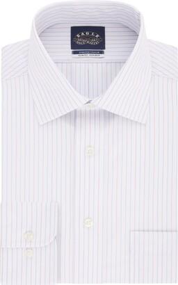 Eagle Men's Dress Shirt Slim Fit Non Iron Stretch Stripe