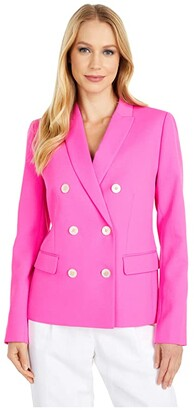 J.Crew Marcey Blazer in Triple Dobby (Neon Flamingo) Women's Clothing