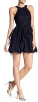 Speechless Lace Top Chiffon Corkscrew Dress (Juniors)