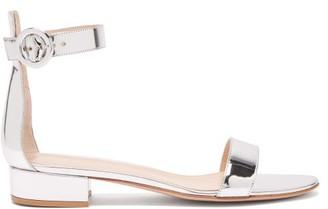 Gianvito Rossi Portofino 20 Leather Sandals - Womens - Silver