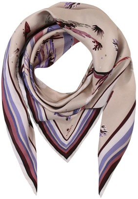 Klements Large Square Scarf Marfa Lights Violet Print