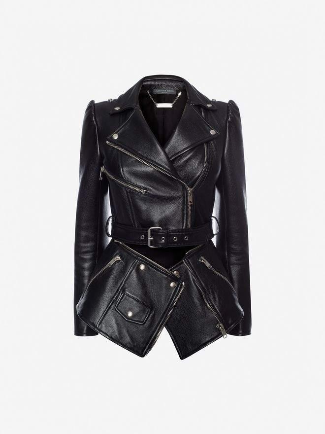 Alexander McQueen Zipped Biker Jacket