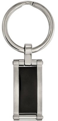 Primal Steel Stainless Steel Brushed and Polished Black Acrylic Key Chain