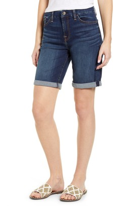 JEN7 by 7 For All Mankind High Waist Denim Bermuda Shorts