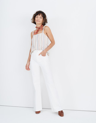 """Madewell 11"""" High-Rise Flare Jeans in Tile White"""