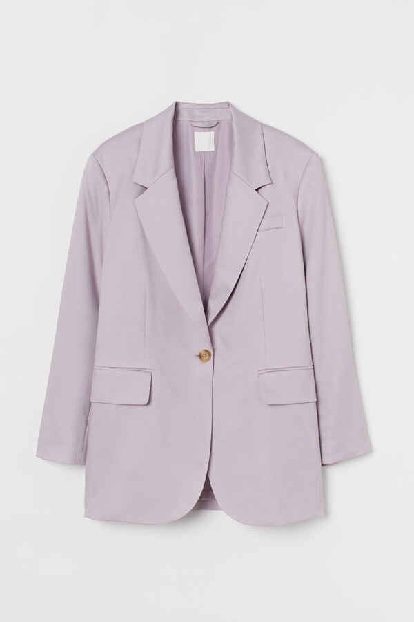 Thumbnail for your product : H&M Oversized Lyocell-blend Blazer - Purple