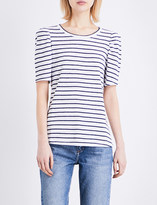 Claudie Pierlot Tomoko linen-blend T-shirt
