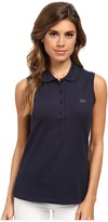Lacoste Sleeveless Slim Fit Stretch Pique Polo Shirt Women's Sleeveless