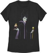 Disney Juniors' Sleeping Beauty Maleficent & Aurora Flame Tee
