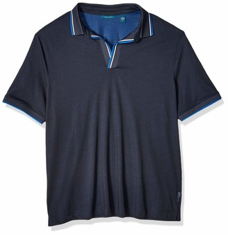 Perry Ellis Men's Big Open Collar Short Sleeve Polo Shirt